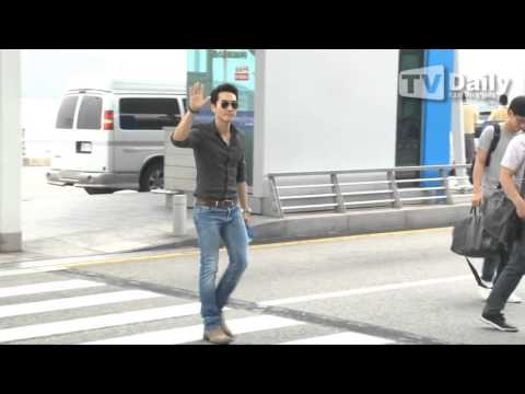 13.6.2014 Song Seung Heon at Incheon Airport leaving for Shanghai Film Festival