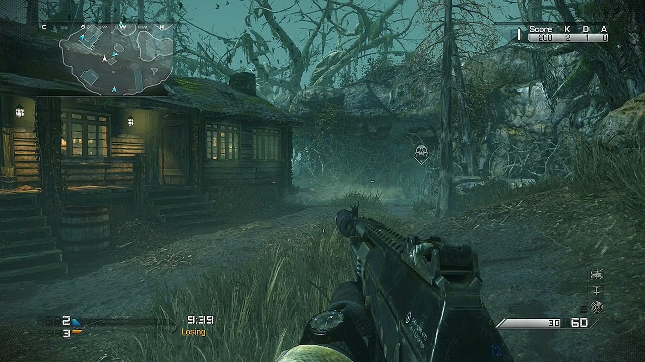 Call Of Duty Ghosts Fog Gameplay Scary Michael Myers Map