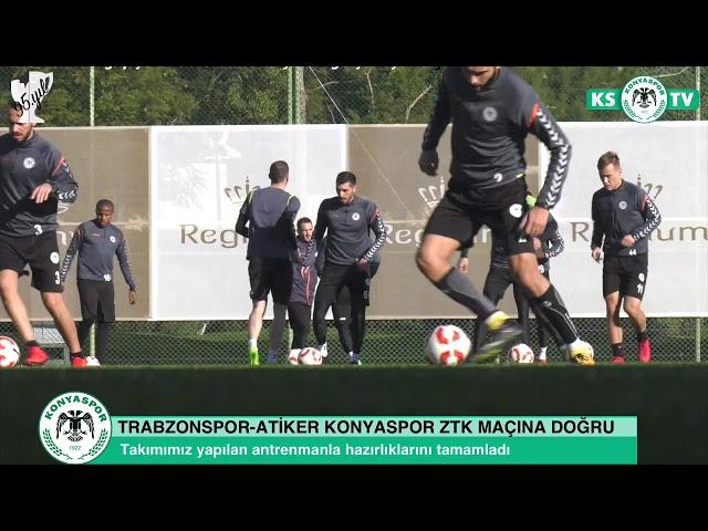 Atiker Konyaspor'umuz Trabzonspor ZTK son 16 turu rövanş maçı hazırlıklarını tamamladı
