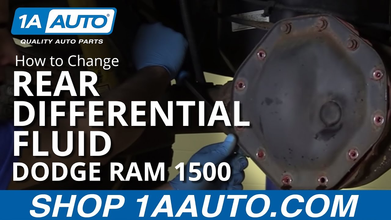 How To Change Rear Differential Fluid 2008 Dodge Ram 1500