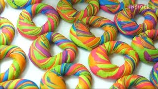 有趣影片 , 如何製作彩虹貝果 , How rainbow bagels are made