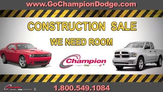 CHAMPION DODGE - Serving Downey & Cerritos CA - JEEP & RAM INVENTORY REDUCTION SALE - 800.549.1084