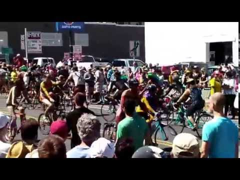 Solstice Cyclists at the Fremont Fair, Seattle 2014