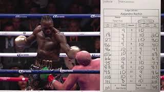 Deontay Wilder vs Tyson Fury TERRIBLE SCORECARD