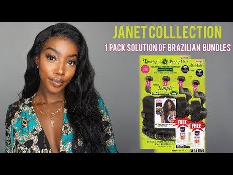 Best Affordable Bundles   Janet Collection 1 Pack Solution of Brazilian Bundles Natural Temple