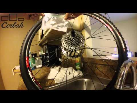 How to clean a Road or Mountain Bicycle Cassette with Mineral Spirits and a wire brush.