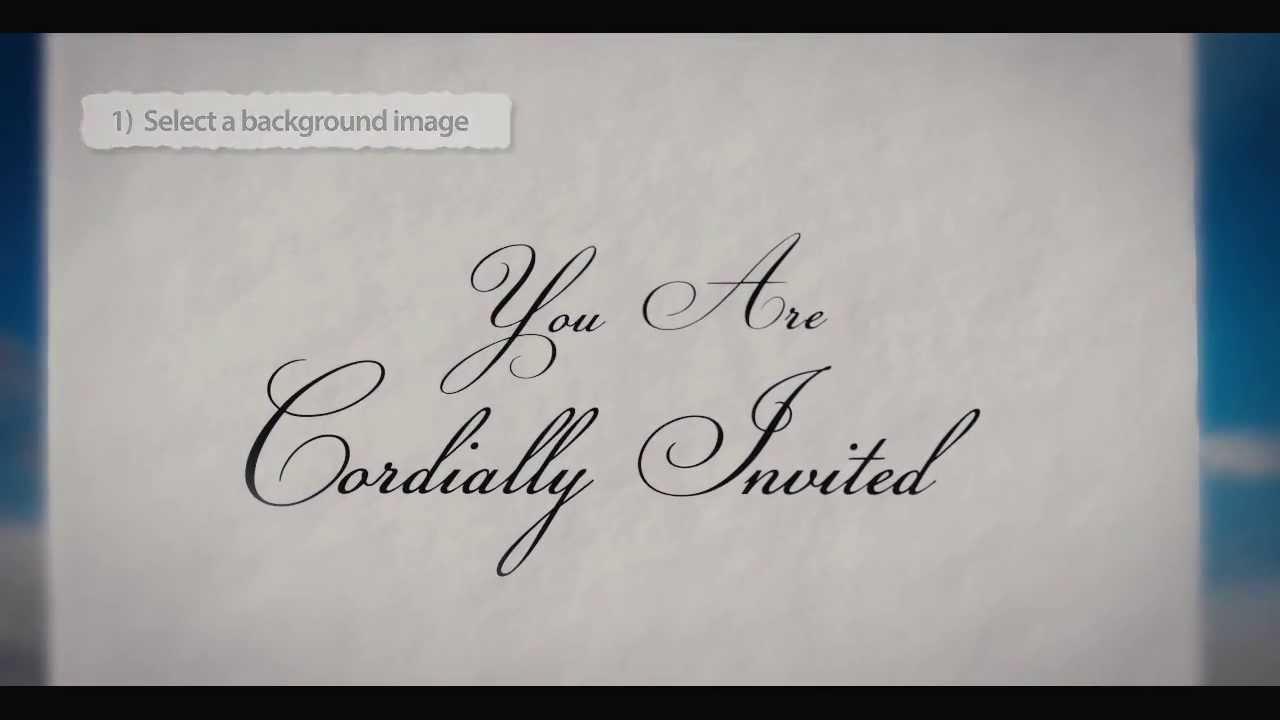 SaveTheDate Wedding Invitation Video Template YouTube – Wedding Save the Date Video