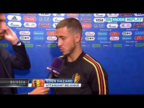 France-Belgique (1-0) : Les réactions d'Eden Hazard et Thibaut Courtois (Coupe du monde 2018)