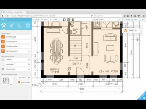 Floorplanner Lesson 2: Tracing walls