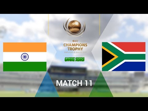 ICC CHAMPIONS TROPHY 2017 GAMING SERIES - INDIA v SOUTH AFRICA - GROUP B MATCH 11