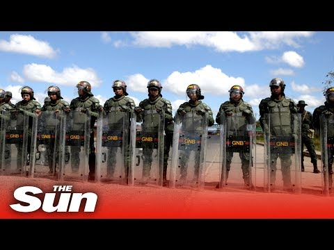 Venezuelas military aggressively blocks humanitarian aid