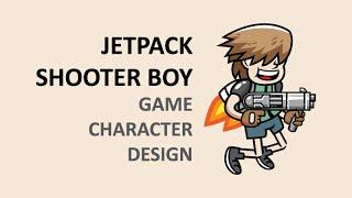 Vector Game Character Design - Jetpack Boy Illustration