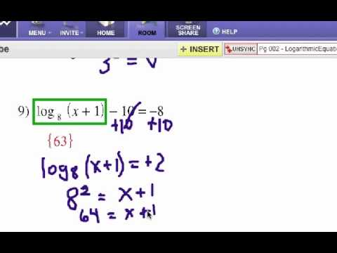 How To Solve Logarithm Equations Self Quiz 2 Youtube