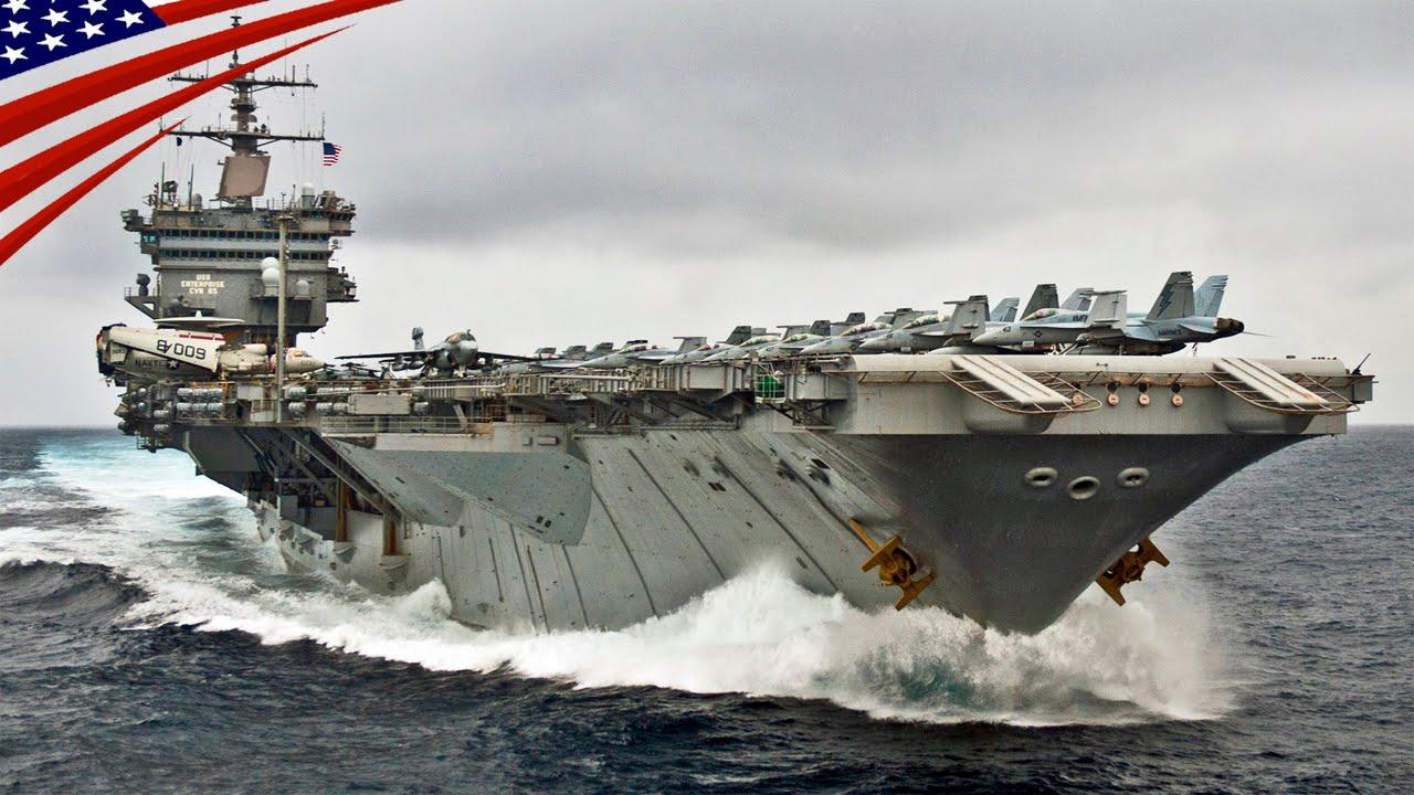 超大型空母 スーパー キャリアー の高速航行 アメリカ海軍 us navy