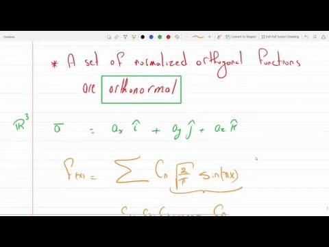 Finding norm and the normalized function and discuss orthogonality and orthonormal functions 12-8-2