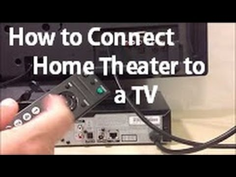 How to Connect a Home Theater to a TV - YouTube