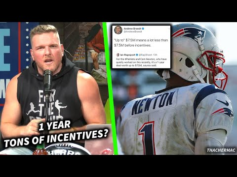 Pat McAfee Talks Cam Newton's Contract With The Patriots