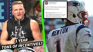 Download Pat McAfee Talks Cam Newton's Contract With The Patriots Mp3 and Videos