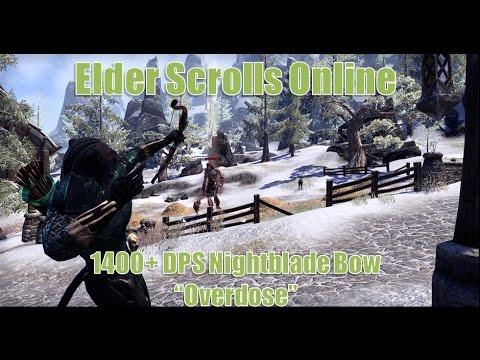 Elders Scrolls Online 1400 DPS Nightblade Bow Build Overdose