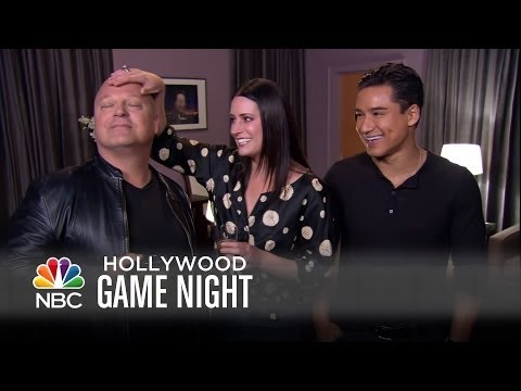 Michael, Paget and Mario Gear Up for Game Night - Hollywood Game Night