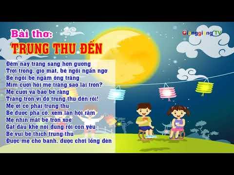 Bài thơ Trung thu đến – Thơ truyện mầm non – Đọc thơ cho bé [ GianggiangTV ]