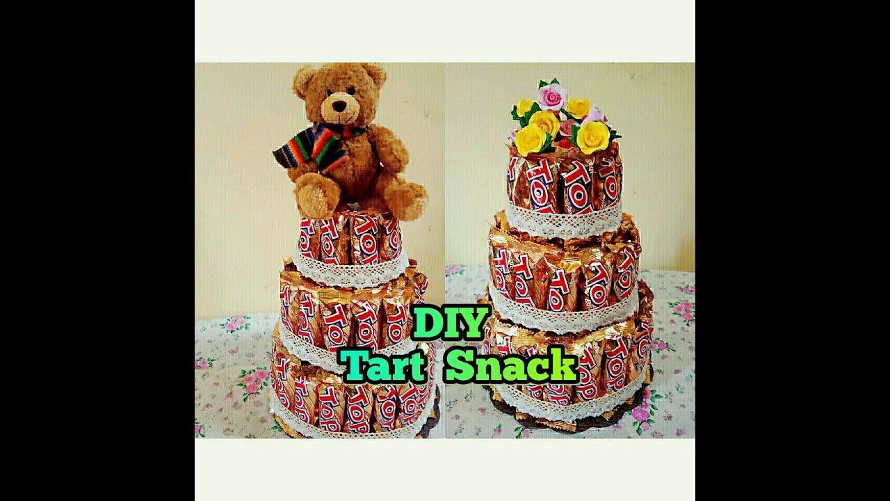 How To Make Tart Snack Diy Cara Membuat Tart Dari Snack Top Youtube
