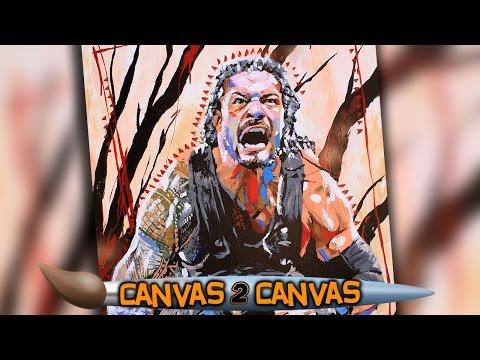 Roman Reigns Speart Sich Seinen Weg Auf Die Leinwand: WWE Canvas 2 Canvas