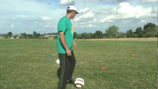 first touch soccer academy passing outside of foot coaching u7 to u11s