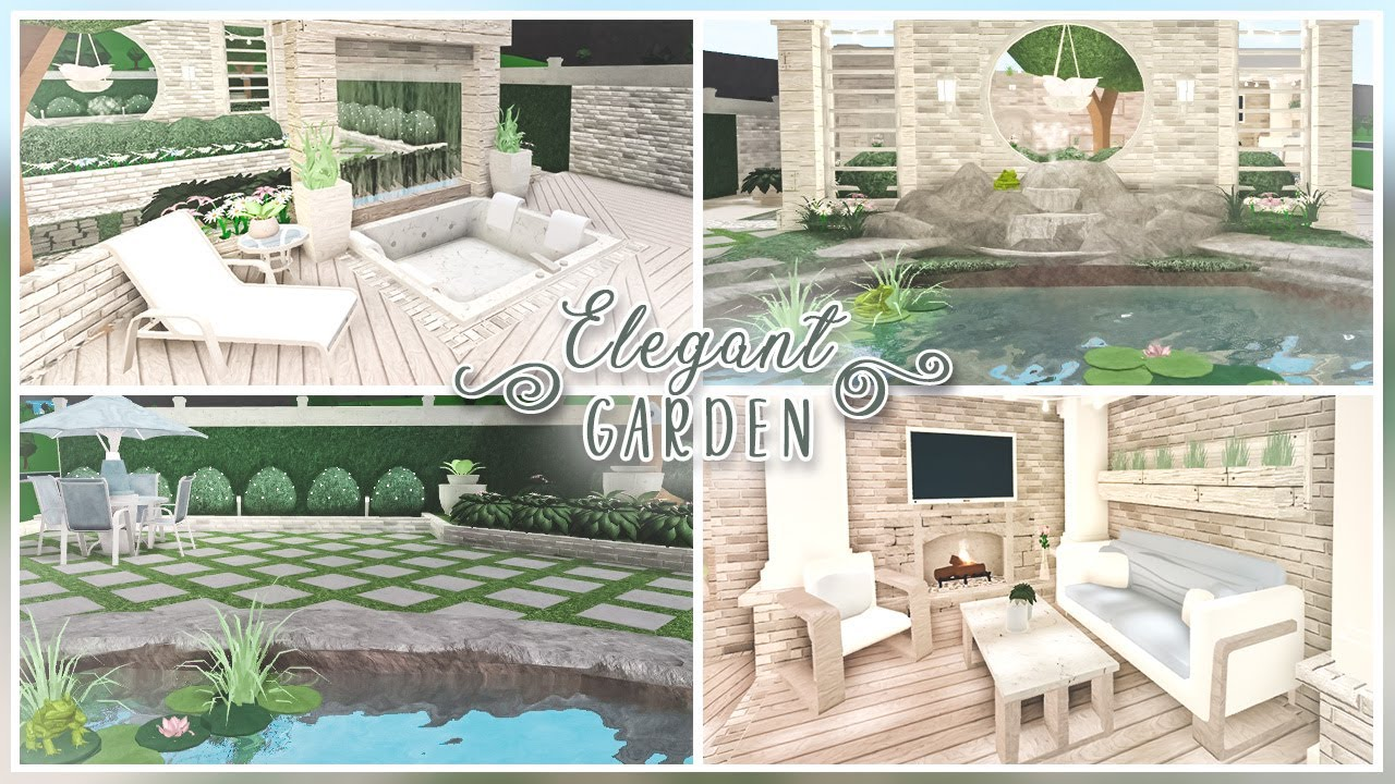 Bloxburg Backyard Ideas Pt 2 Elegant Garden Youtube