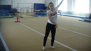 Малахова Елена, тренировка в зале ЦСКА, контемпорари