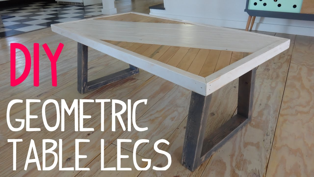 diy modern geometric table legs - youtube