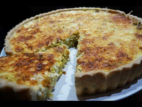 recette-de-cuisine-:-quiche-100%-maison-poireaux-curry