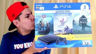 UNBOXING PLAYSTATION 4 SLIM BUNDLE HITS - Mi primera Ps4 🎮😍