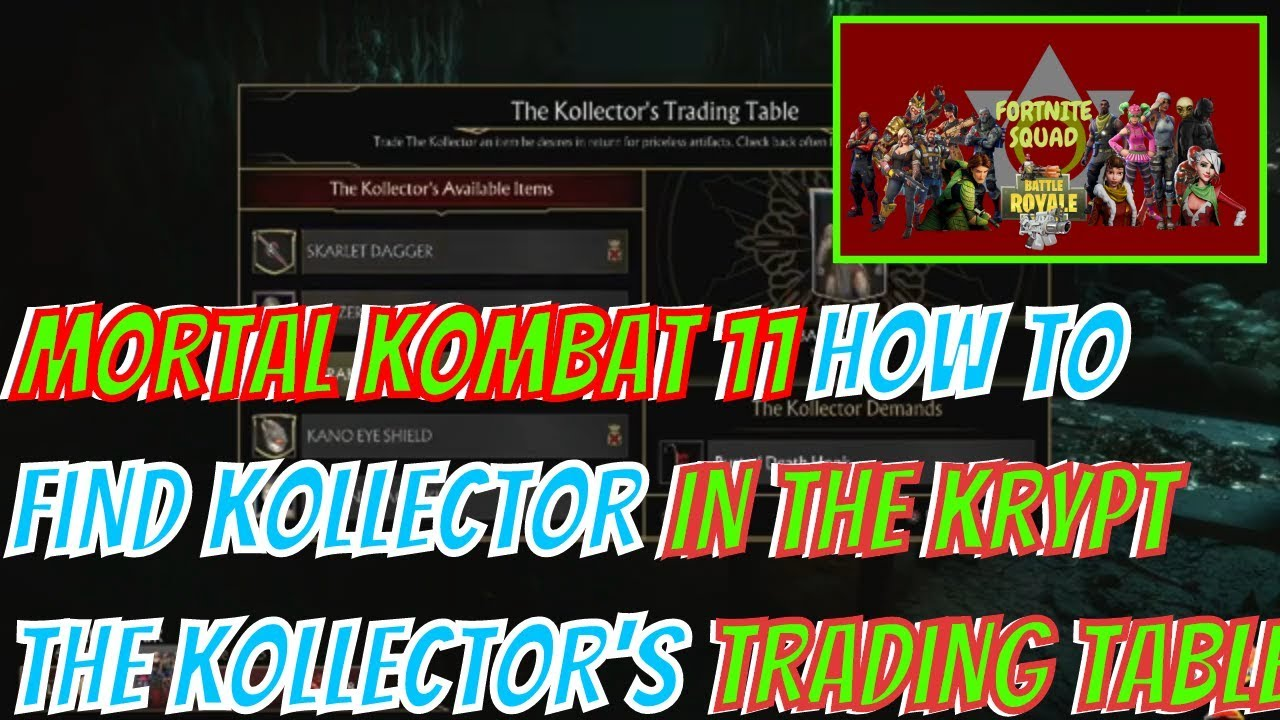 Mortal Kombat 11 How To Find Kollector In The Krypt The