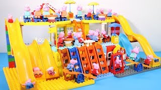 Peppa Pig Lego House Creations With Water Slide Toys For Kids #9