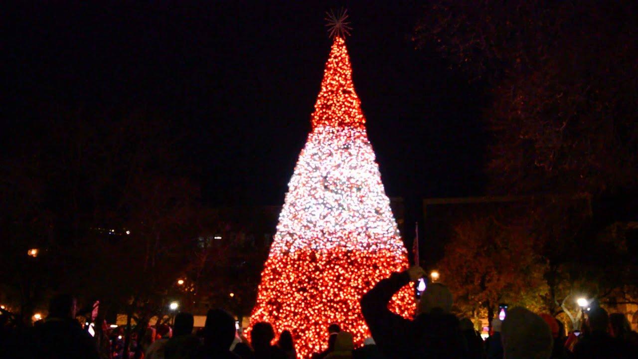 hd johnstown christmas tree light up debut first song youtube - Light Up Christmas Tree