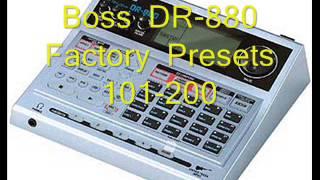 boss dr 880 drum machine patterns 2 5