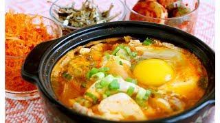 Korean Kimchi Soft Tofu Stew Recipe 豆腐煲 CiCi Li -Asian Home Cooking Recipes