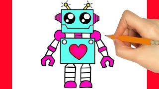 robot easy draw step
