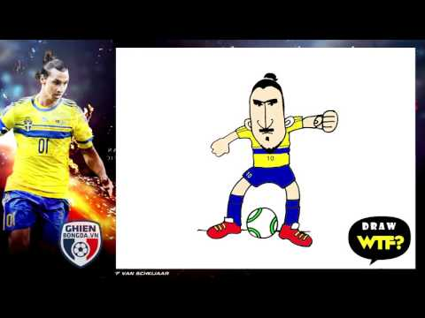 Very Easy! How to draw Zalatan Ibrahimovic! Funny Dirty Drawing