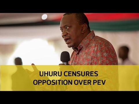 Uhuru censures the opposition over PEV