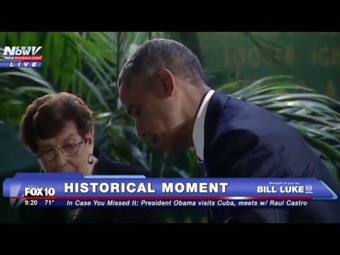 FNN: Obama Makes History - Visits Cuba and Meets with Raul Castro