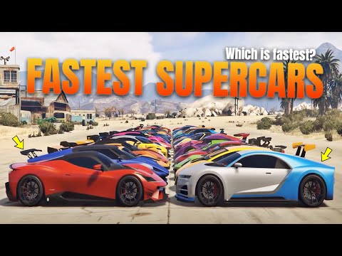 GTA 5 Online: FASTEST SUPERCARS 2020 | RANKED FROM SLOWEST TO FASTEST!