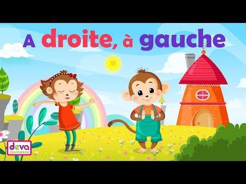 A droite à gauche (La direction le sens, vidéo animée et paroles)ⒹⒺⓋⒶ Education enfants