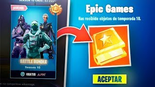 How to GET THE BATTLE PASS 10 FOR FREE! FORTNITE REGALA BATTLE PASS 10 FREE TO ALL!