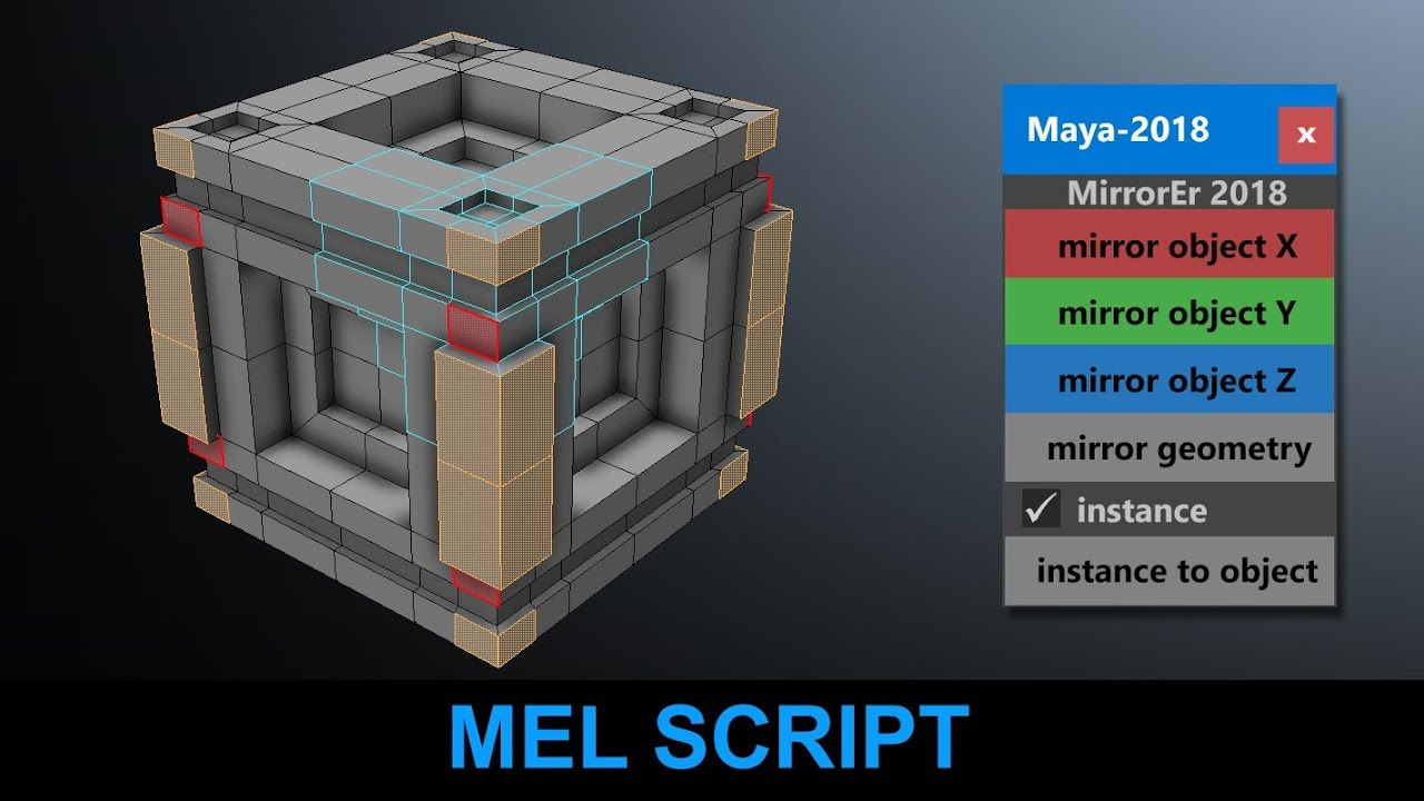 Mirror and Instance Toolbox for Maya