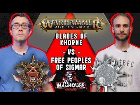 Blades Of Khorne Vs Free Peoples Of Sigmar - Warhammer Age Of Sigmar Battle Report