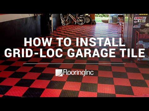 How To Install Grid-Loc Garage Tiles By FlooringInc