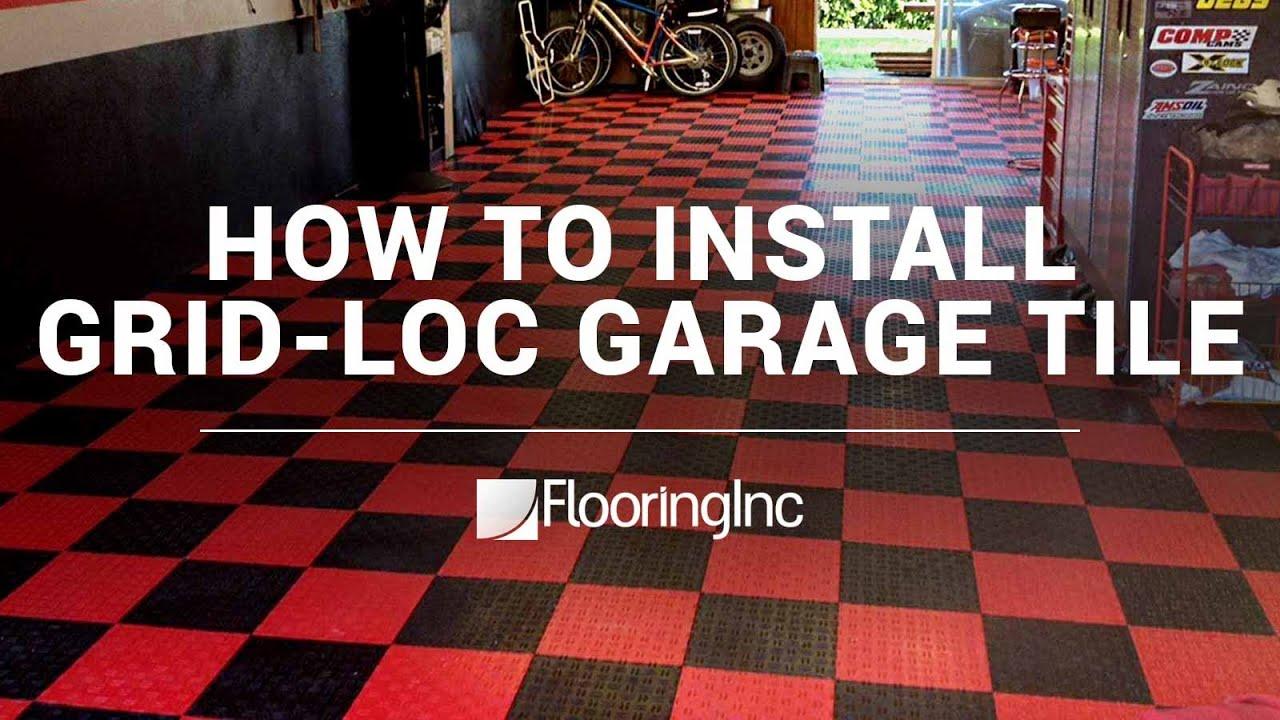 how to install grid loc garage tiles by flooringinc - Garage Tiles