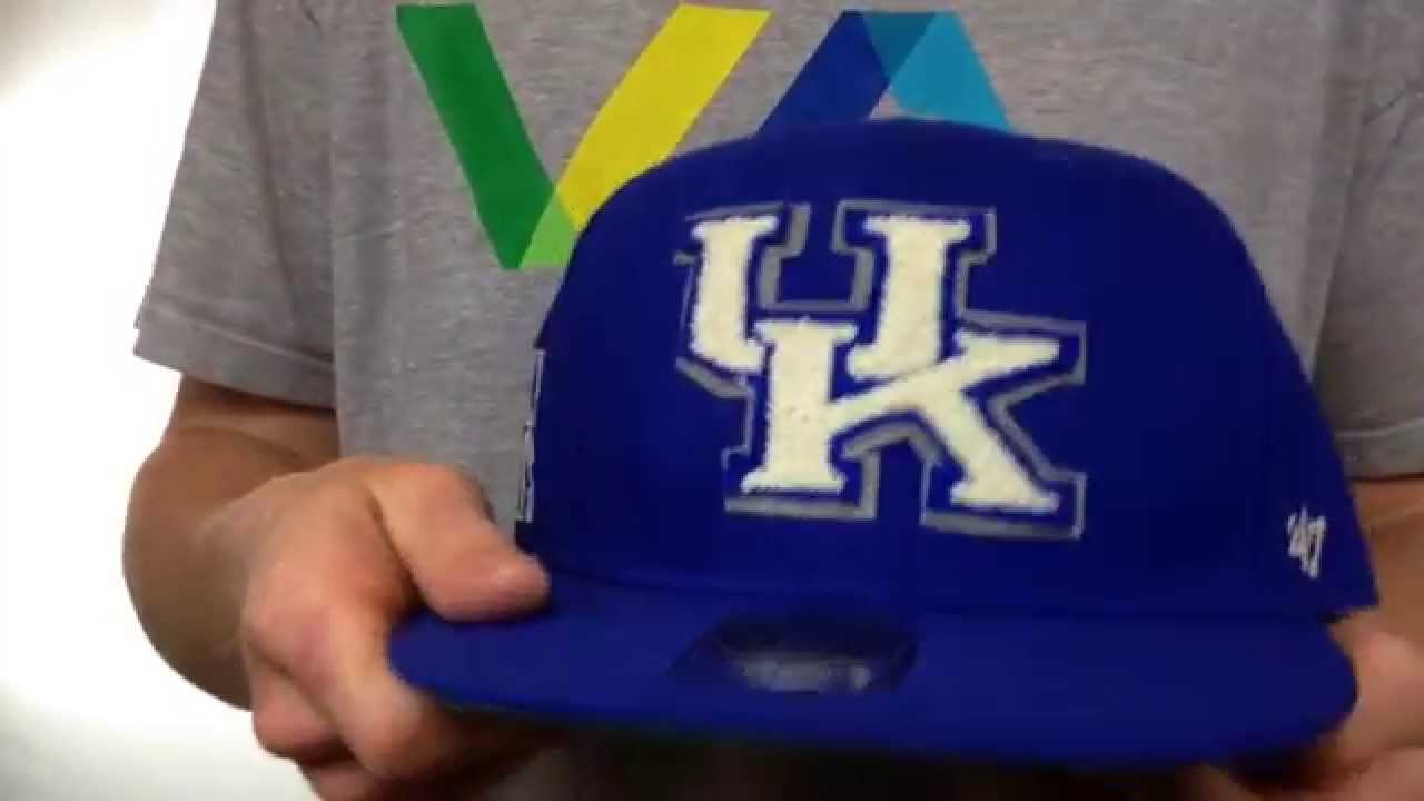 low priced 98c7a f28d7 Kentucky  NCAA CATERPILLAR  Royal Fitted Hat by 47 Brand